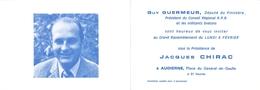 Carte Double *  Audierne * Jacques Chirac Le Février 1978 Invitation - Audierne