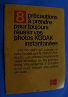 CONSEILS 8 PRÉCAUTIONS A PRENDRE POUR RÉUSSIR VOS PHOTOS KODAK -Publicité STICKER Dépliant PUBLICITAIRE - Photographie