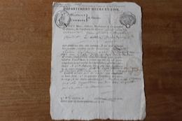 Département  D'Eure Et Loir  Chartres REVOLUTION Certificat De Non émigré - Documentos Históricos