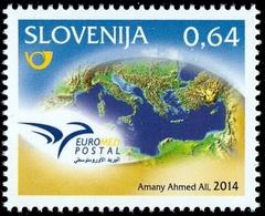 2014 - SLOVENIA / SLOVENIJA - EUROMED - IL MARE MEDITERRANEO / THE MEDITERRANEAN SEA. MNH - Emisiones Comunes