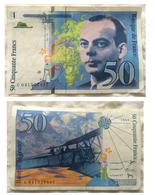 50 Francs, St Exupéry, 1997, BON ÉTAT. - 50 F 1992-1999 ''St Exupéry''