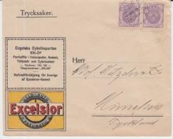 SCHWEDEN 05/08/1911 NACH MUNCHEN EXCELSIOR PNEUMATIC - Suecia