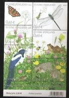 Finlande 2003 N° 1623 / 8 Ou BF 30 ** Papillon, Grenouille, Papillon, Pie, Escargot, Hérisson, Pissenlit, Fourmi Abeille - Finland
