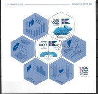 Islande 2018 Bloc F1474 Oblitéré 100 Ans D'indépendance - Blocks & Kleinbögen