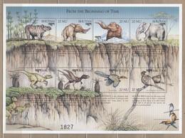 BIRDS Vogel Oiseaux Prehistoric Life Bhutan 1999 Sheet Mi B390-B393 MNH (**) #6195 - Stamps