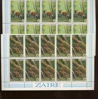 1984.   10 Séries WWF. Okapis. 1253/56 **. Cote 130,00 Euros - Zaïre