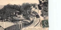 CPA SAN-SALVADOUR - Entrée Du Tunnel - Chemins De Fer Du Sud De La France, Ligne Du Littoral - France