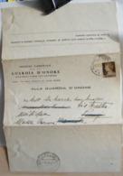 STPN222- DOCUMENTO ISTITUTO GUARDIA NAZIONALE D' ONORE REALI TOMBE PANTHEON - IMPERIALE 10 C AUGUSTO - ROMA - MASSA - 1900-44 Vittorio Emanuele III