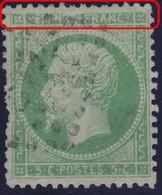 N°20 Filet Supérieur Absent Et Cartouche Supérieur Très Dégradé, Quelques Dents Courtes, Sinon TB - 1862 Napoleon III