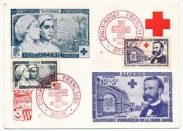 ALGERIE - Carte Maximum - Croix Rouge 1954 - Infirmières Et Henri Dunant (1 Seule Carte) ORAN 1954 - Cartoline Maximum