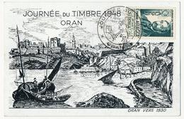 ALGERIE - Carte Locale - Journée Du Timbre 1948 - ORAN - Algeria (1924-1962)