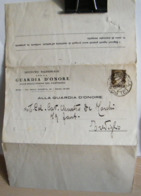 STPN223- DOCUMENTO ISTITUTO GUARDIA NAZIONALE D' ONORE REALI TOMBE PANTHEON - IMPERIALE 10 C AUGUSTO - ROMA - TREVIGLIO - 1900-44 Vittorio Emanuele III