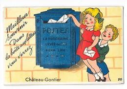 CHATEAU GONTIER (53) Carte à Système Dépliant Boite à Lettres - Chateau Gontier