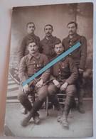 1916 Chasseurs à Pieds 4 Eme Bataillon Croix Guerre étoile Palme Insigne Fm Chauchat Brienne 14 18 Poilu  WW1 Carte Phot - War, Military