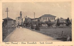 Cressa (Novara) Chiesa Parrocchiale Scuole Comunali - Fontaneto - Novara