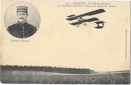 ETAMPES (91) Aviation Briault Sur Biplan Farman En Vol - Etampes