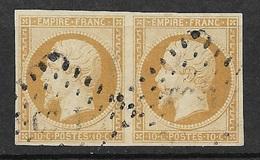 France Paire Du N° 13A  Oblitérés   B/TB  Soldé à Moins De 10  %   ! ! ! - 1853-1860 Napoléon III