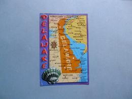 DELAWARE  -  Carte Géographique  -  Etats Unis - Autres