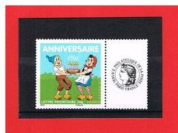 PERSONNALISE- 2007 - N°4081A - ANNIVERSAIRE  AVEC VIGNETTE CERES - Y & T- COTE : 3 EUROS - France