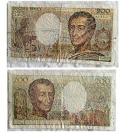 FAUX BILLET De 200 Francs Montesquieu, 1992. - 1962-1997 ''Francs''