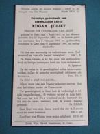 Bidprentje Priester Edgar Joliet Gent Gestorven Als Oorlogslachtoffer - Religion & Esotericism