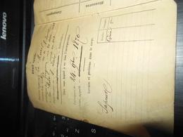 LIVRET MILITAIRE GARDE NATIONALE MOBILISEE DE L'ISERE 24/9/1870 SAPEUR 1ERE CIE DU GENIE - Historical Documents