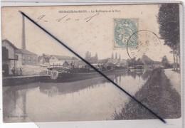 Sermaize Les Bains (51)  La Raffinerie Et Le Port (péniches à Quai) - Sermaize-les-Bains