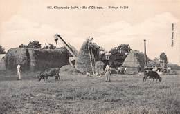 CPA Charente-inf - ILE D'OLERON - Battage Du Blé - Ile D'Oléron