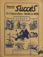 PROTEGE-CAHIER - Chaussures SUCCES Chalons-sur-Marne - EUROPE - Au Verso : Les Tables Mathématique - Bon Etat - Protège-cahiers