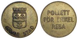 02785 GETTONE TOKEN JETON SWEDEN TRASPORTO TRANSIT GAVLE STAD POLLETT FOR ENKEL RESA - Unclassified