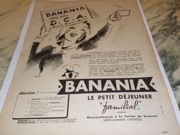 ANCIENNE PUBLICITE D.C.A SERA NOTRE  BANANIA   1940 - Affiches