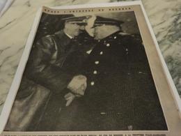 AFFICHE PHOTO ENTREVUE HITLER ET MUSSOLINI  1940 - 1939-45