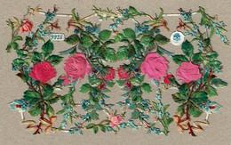 Schlesinger Martin N° 9925 - SCRAP - DECOUPIS  - Gaufré / Embossed - Flowers - Silk Roses - Fleurs Roses Soie - 2 Scans - Victorian Die-cuts