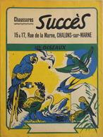 PROTEGE-CAHIER - Chaussures SUCCES Chalons-sur-Marne - Les Oiseaux - Au Verso : Les Panneaux Code De La Route - TBE - Protège-cahiers