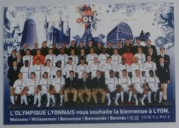 FOOTBALL - OLYMPIQUE LYONNAIS OL - EQUIPE Saison 2008-2009 Avec Monuments Lyon Derrière - Carte Publicitaire - Football