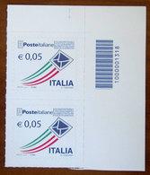 2010 ITALIA Posta Italiana - 0,05 € • Busta Che Spicca Il Volo - Codice Barre Nuovo - 6. 1946-.. Republik