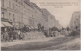 75 - PARIS - BARRICADE RUE LAFAYETTE ET FG ST MARTIN - 18.03.1871 - Distretto: 09