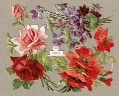 SCHÄFER & SCHEIBE N° 12015 - SCRAP - DECOUPIS  - Gaufré / Embossed - Flowers - Roses / Fleurs -2 Scans - Flowers