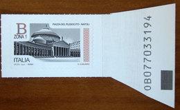 2016 ITALIA Piazze D' Italia  Piazza Del Plebiscito A Napoli - B1 - Codice Alfanumerico - Codice Barre Nuovo - Codici A Barre