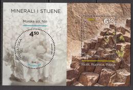 2016 Croatia Rocks & Minerals Geology Complete Souvenir Sheet MNH @ BELOW FACE VALUE - Kroatië