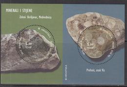 2014 Croatia Rocks & Minerals Geology Complete Souvenir Sheet MNH @ BELOW FACE VALUE - Kroatië