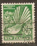 New Zealand  1935   SG 579  1/2d Green  Fine Used - Oblitérés