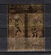 GAMBIE  Timbre Neuf ** De 1984  ( Ref 1668 ) Sport - Jeux Olympiques Timbre Or Parfait état - Gambie (1965-...)