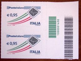 2014 ITALIA Posta Italiana - 0,95 € • Busta Che Spicca Il Volo - Codice Barre Nuovo - 6. 1946-.. Republik