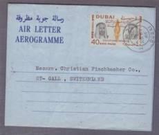 Aérogramme Obl. Dubai 26.05.1966 -> St Gall - Dubai
