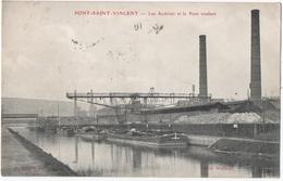 PONT-SAINT-VINCENT (54) LES ACIERIES Et Le PONT ROULANT. 1910. - Altri Comuni