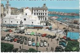 219 ALGER - LA PLACE DU GOUVERNEUR ET L'AMIRAUTÉ - MER / PORT / PARKING AVEC BELLES VOITURES ANCIENNES - Algeri