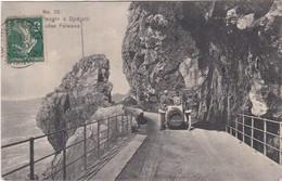 229 ROUTE DE BOUGIE A DJIDJELLI - VOITURE DU DÉBUT DES ANNÉES 1900 SUR LE PONT DES GRANDES FALAISES - Bejaia (Bougie)