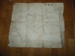 5 JUILLET 1819 EXTRAIT DU PLAN CADASTRAL PARCELLAIRE DE LA COMMUNE DE SARCENAS CHARTREUSE ISERE EN L'ETAT LIVRE PLIE - Arbeitsbeschaffung