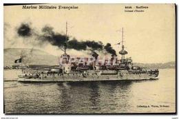 CPA Bateau Guerre Suffren Cuirasse D Escadre - Warships